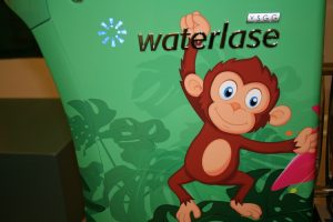 Monkey graphic on waterlase machine